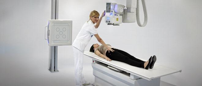 Пациент во время обследования